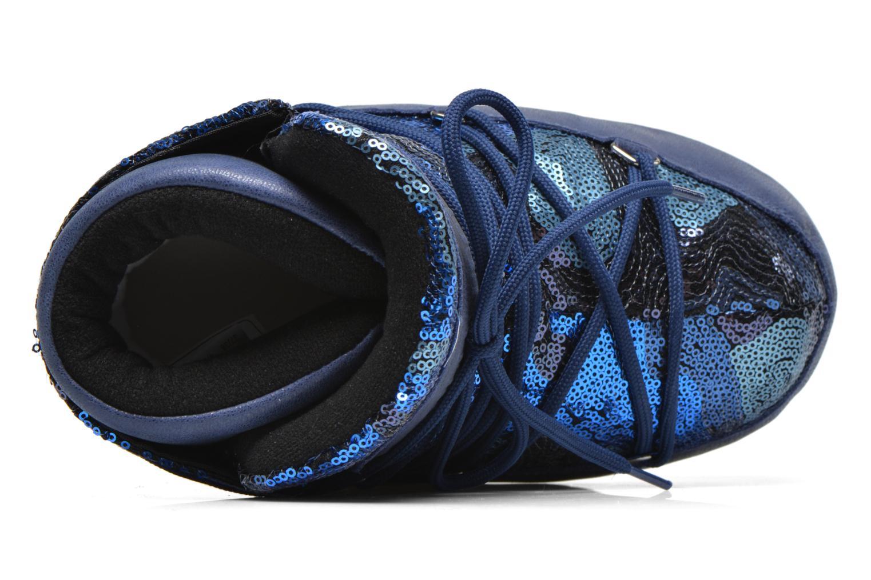 Bottines et boots Moon Boot Buzz Paillettes Bleu vue gauche
