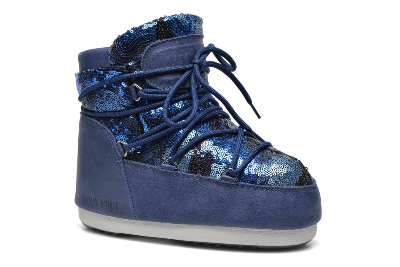 Ankelstøvler Moon Boot Buzz Paillettes Blå detaljeret billede af skoene