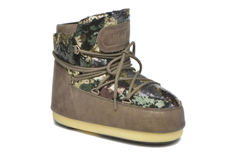 Bottines et boots Moon Boot Buzz Paillettes Vert vue détail/paire