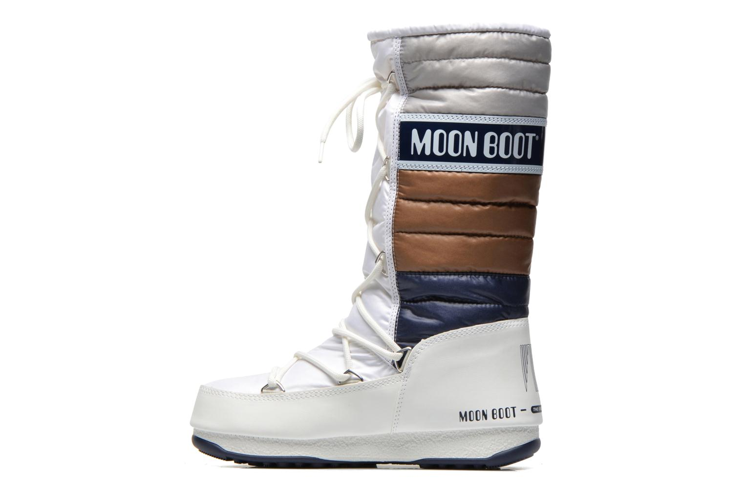 Bottines et boots Moon Boot Quilted Blanc vue face