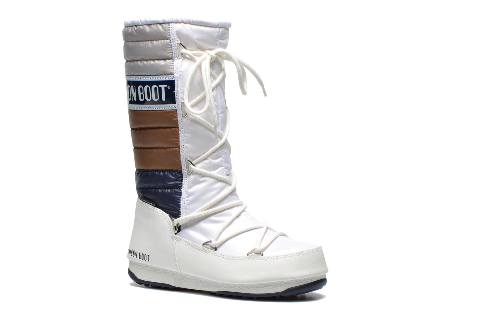 Ankle boots Moon Boot Quilted White detailed view/ Pair view