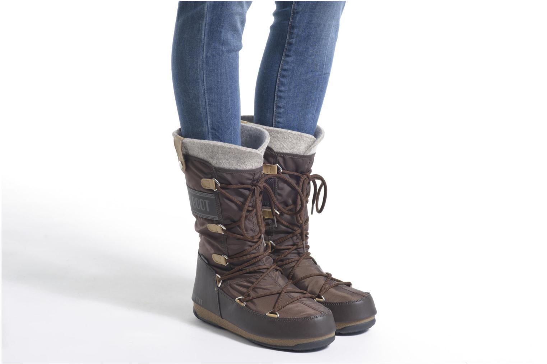 Bottines et boots Moon Boot Monaco Felt Marron vue bas / vue portée sac