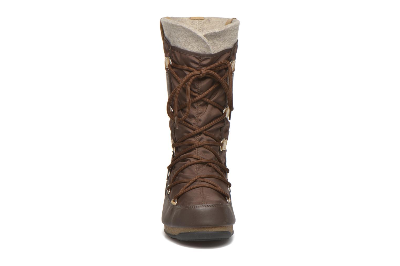 Bottines et boots Moon Boot Monaco Felt Marron vue portées chaussures