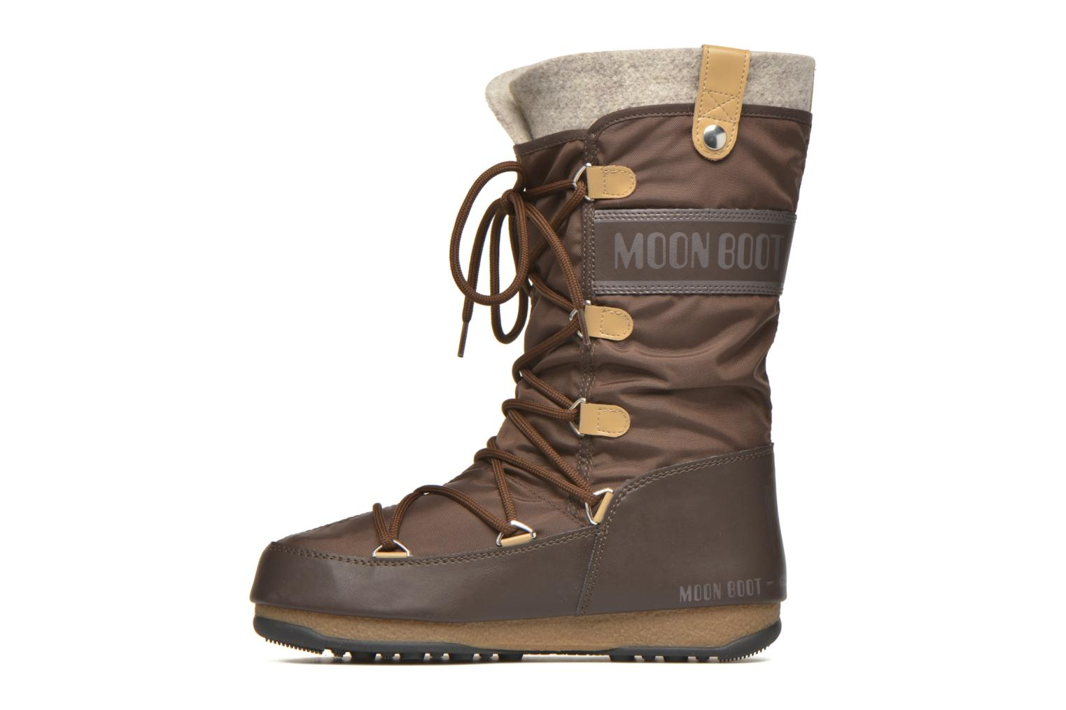 Ankle boots Moon Boot Monaco Felt Brown front view