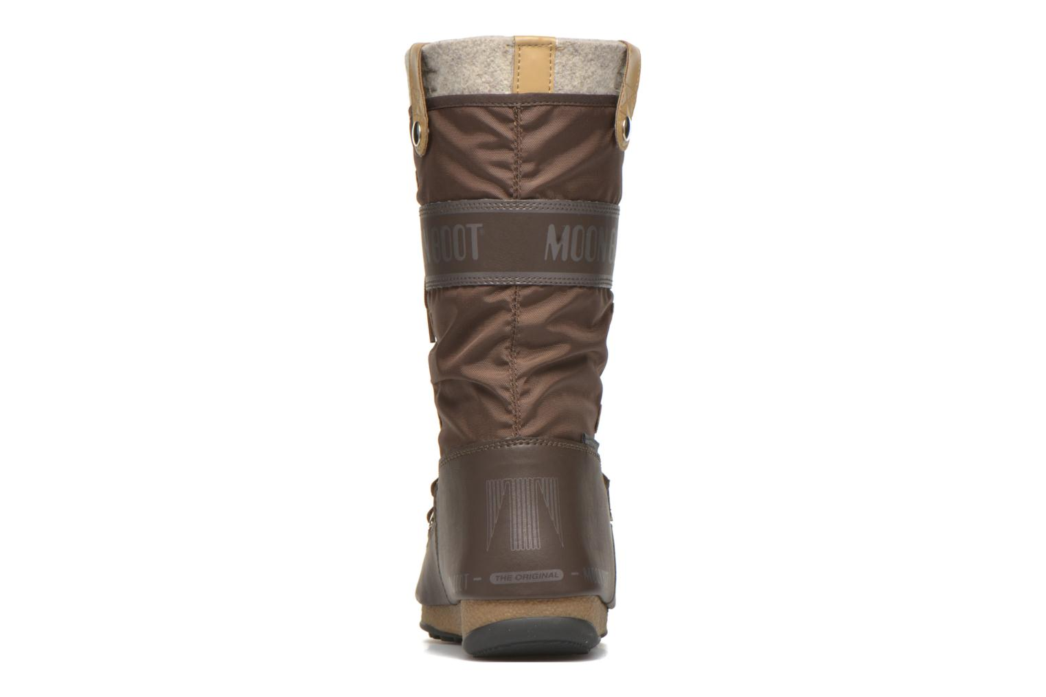 Ankle boots Moon Boot Monaco Felt Brown view from the right