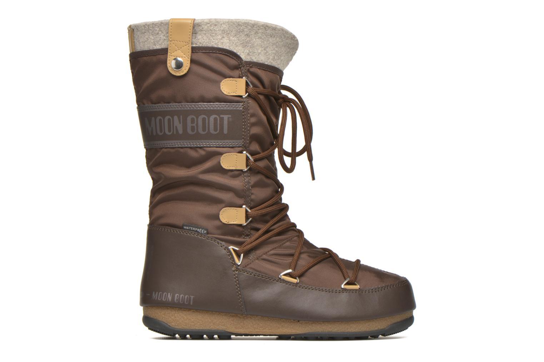 Bottines et boots Moon Boot Monaco Felt Marron vue derrière