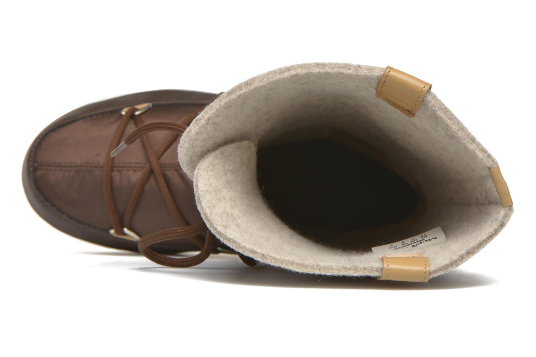 Bottines et boots Moon Boot Monaco Felt Marron vue gauche