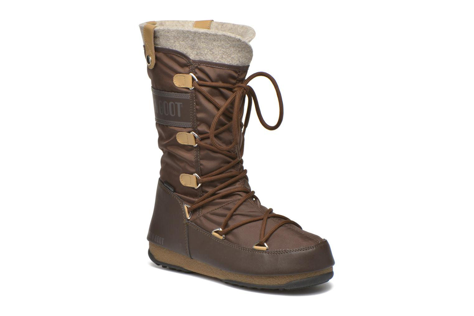 Ankle boots Moon Boot Monaco Felt Brown detailed view/ Pair view