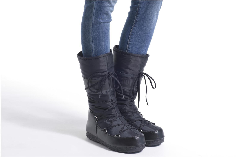 Chaussures de sport Moon Boot We Soft Shade Marron vue bas / vue portée sac