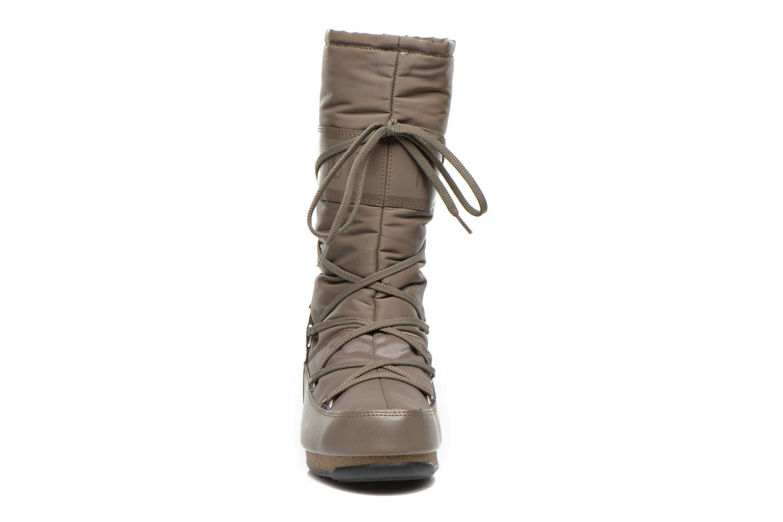 Chaussures de sport Moon Boot We Soft Shade Marron vue portées chaussures