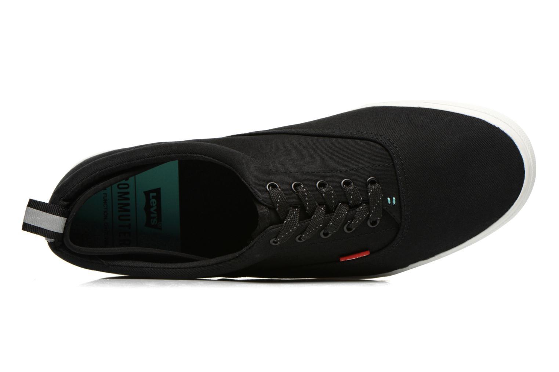 Sneaker Levi's Commuter Low Lace schwarz ansicht von links