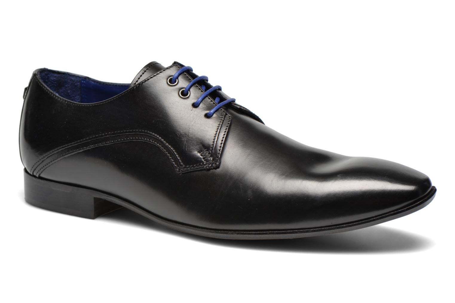 Lace-up shoes Azzaro Alozan Black detailed view/ Pair view
