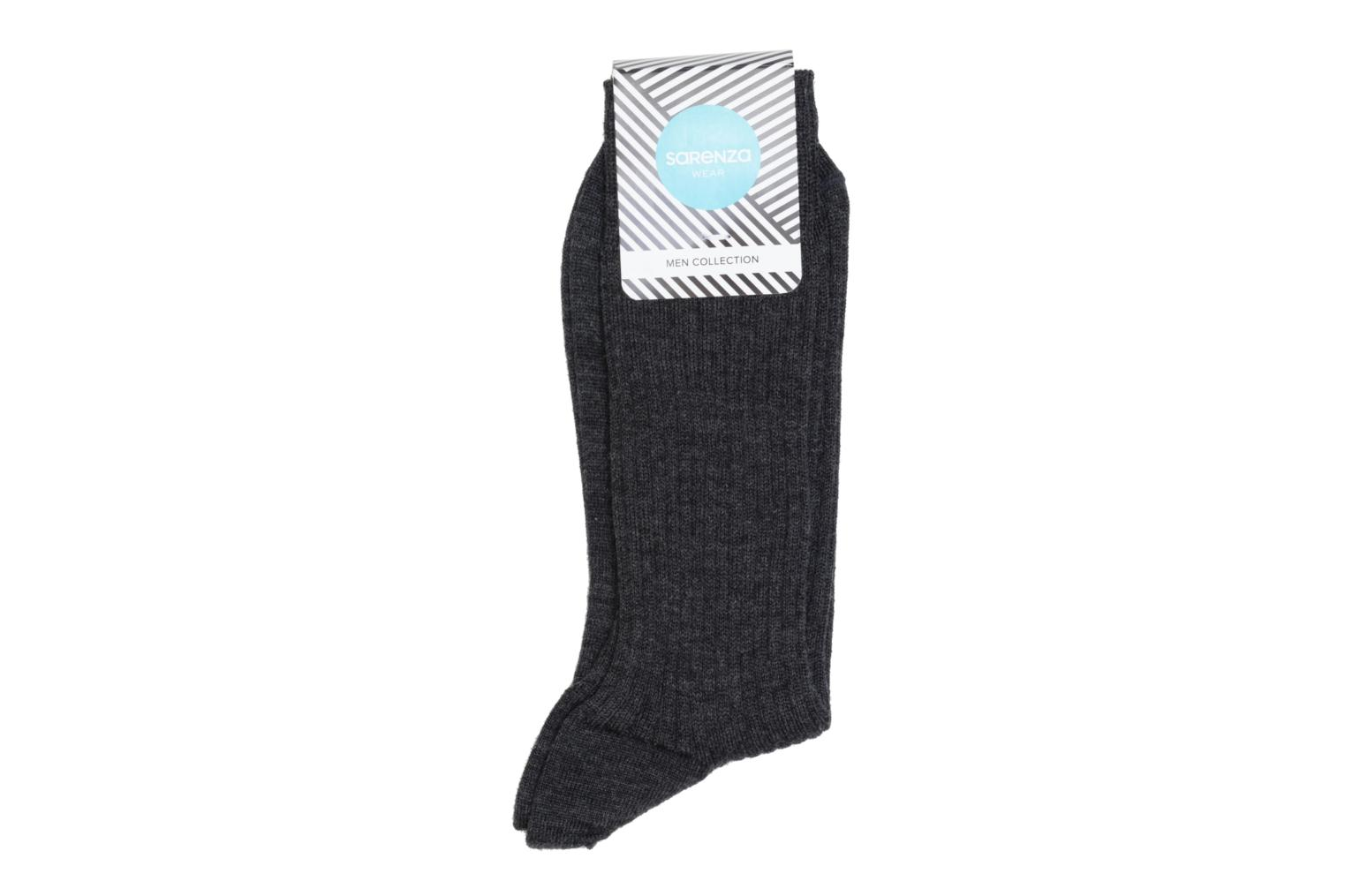 Chaussettes unies Anthracite chiné