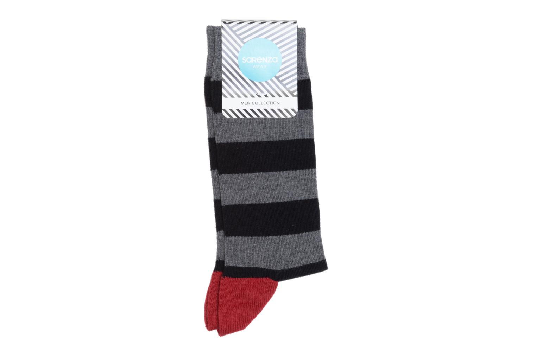 Chaussettes et collants Sarenza Wear Chaussettes larges rayures Gris vue face
