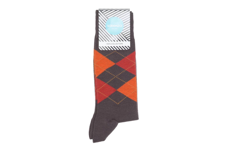Chaussettes Carreaux Marron/rouge