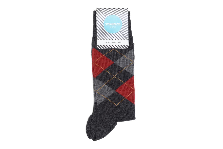 Chaussettes et collants Sarenza Wear Chaussettes Carreaux Gris vue détail/paire