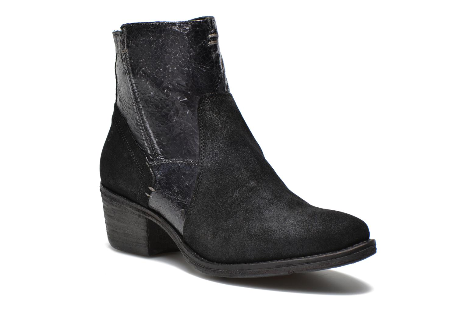 Ankle boots Khrio Heli Black detailed view/ Pair view