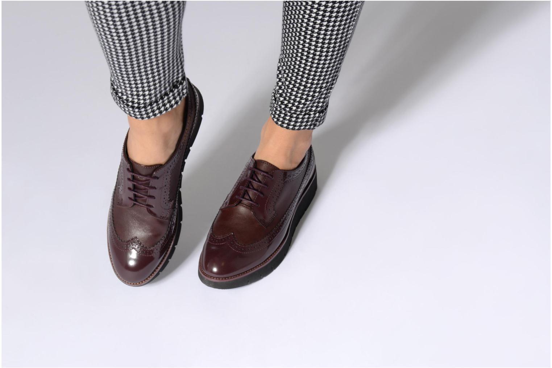 Chaussures à lacets Geox D BLENDA C D540BC Noir vue bas / vue portée sac