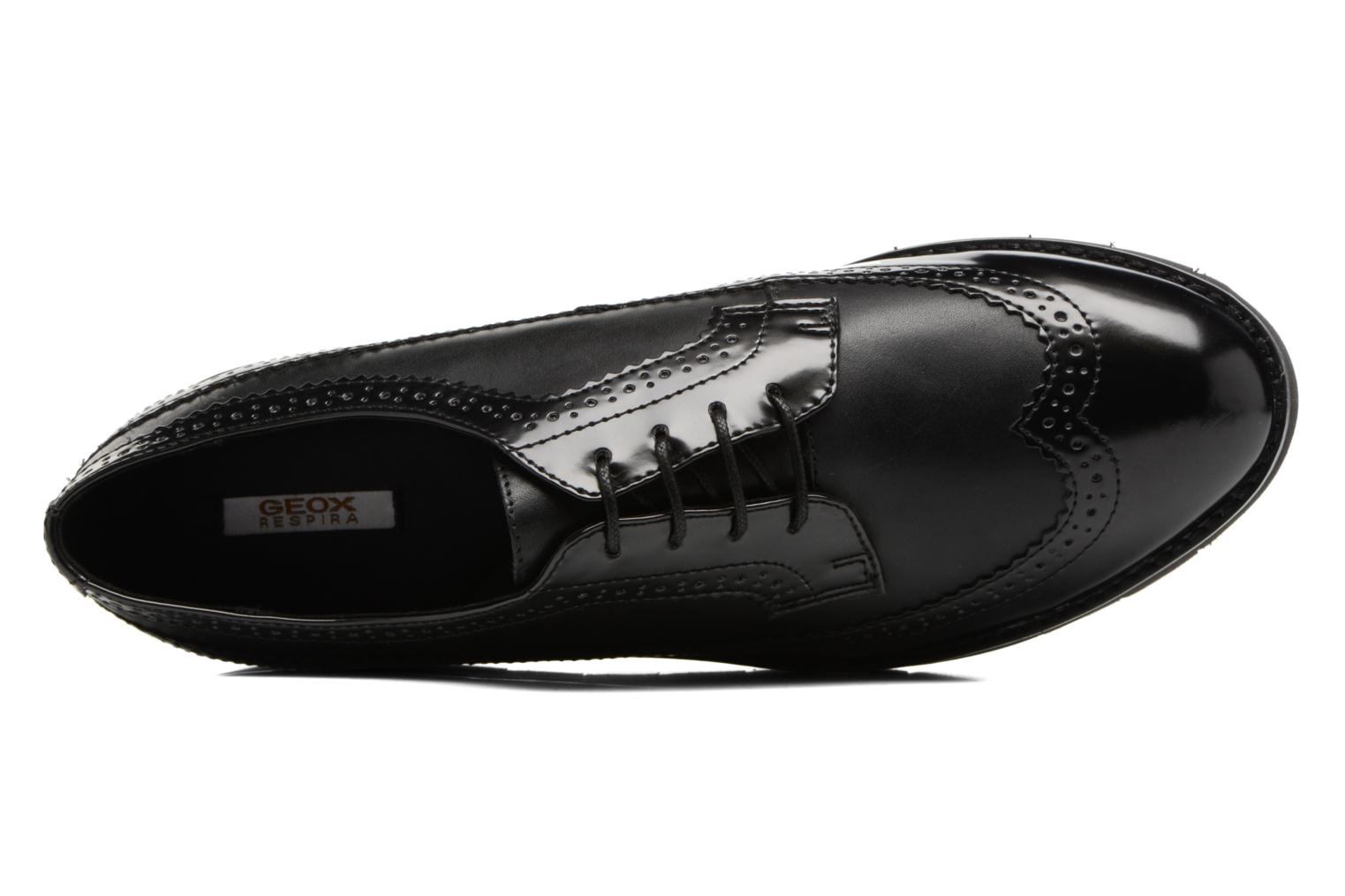 Lace-up shoes Geox D BLENDA C D540BC Black view from the left