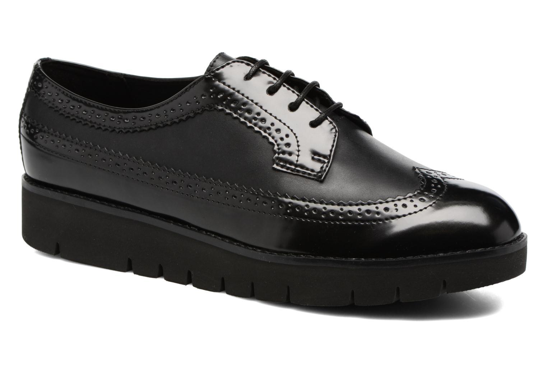 Lace-up shoes Geox D BLENDA C D540BC Black detailed view/ Pair view