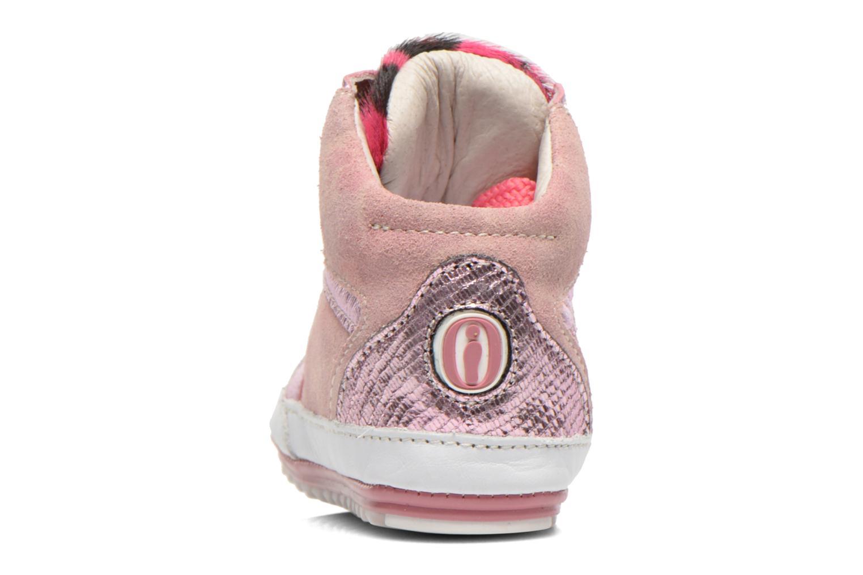 Sneaker Shoesme Silvia rosa ansicht von rechts