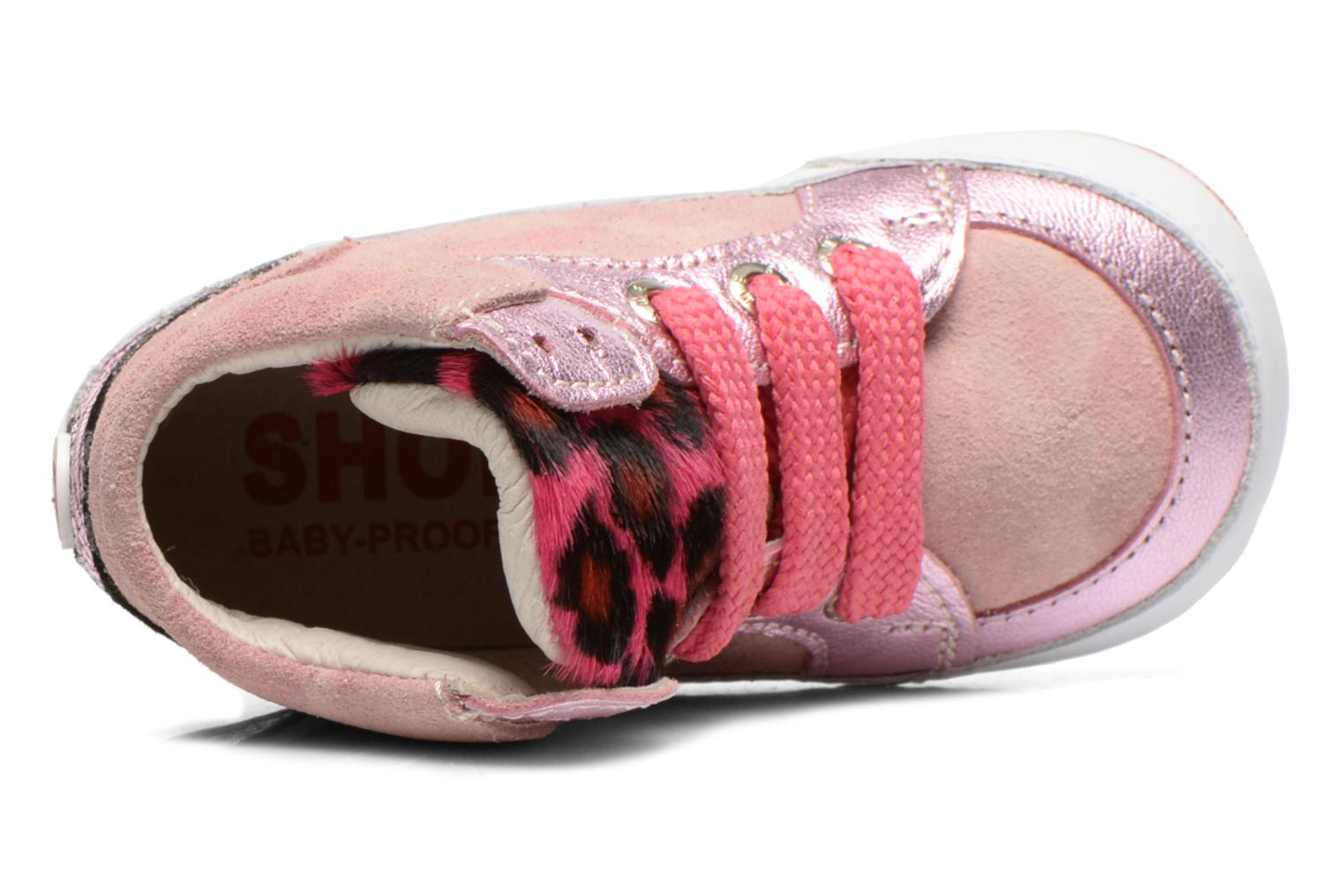 Trainers Shoesme Silvia Pink view from the left