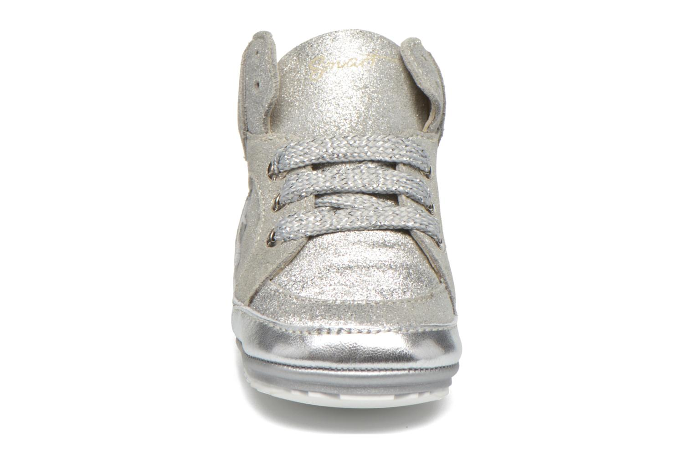 Sneaker Shoesme Silvia silber schuhe getragen
