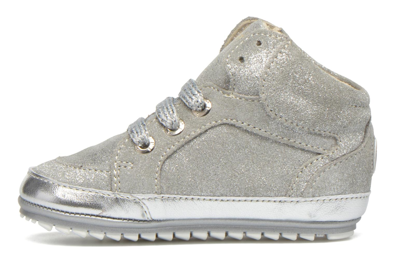 Sneaker Shoesme Silvia silber ansicht von vorne