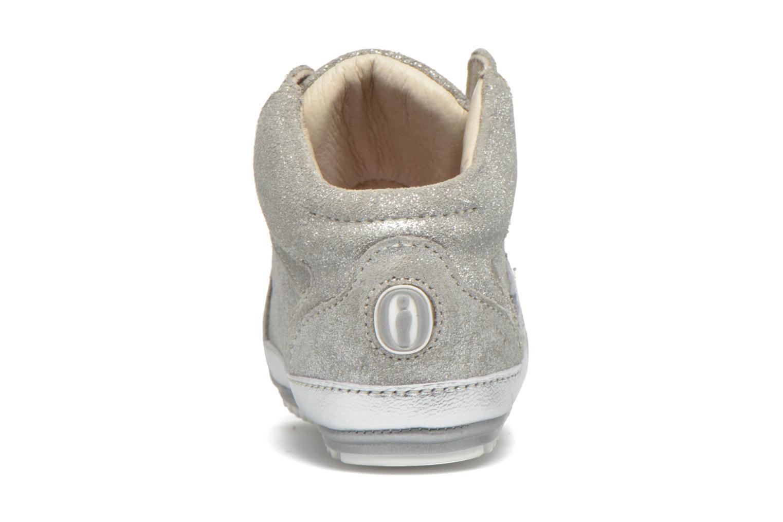Sneaker Shoesme Silvia silber ansicht von rechts