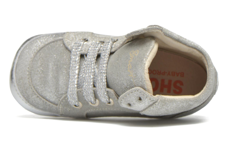 Sneaker Shoesme Silvia silber ansicht von links