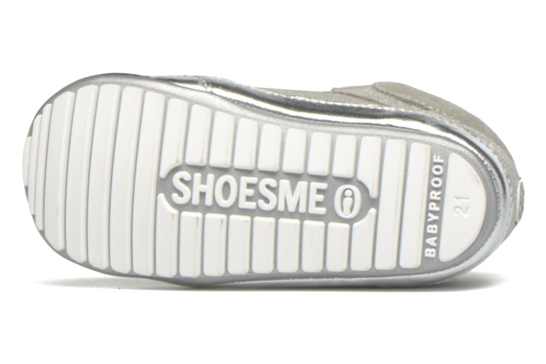 Sneaker Shoesme Silvia silber ansicht von oben