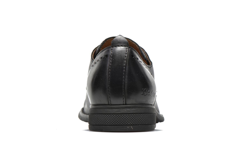 Snörade skor Kickers MARLO Svart Bild från höger sidan