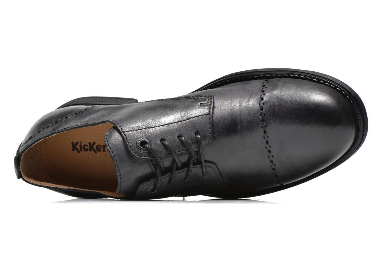 Snörade skor Kickers MARLO Svart bild från vänster sidan