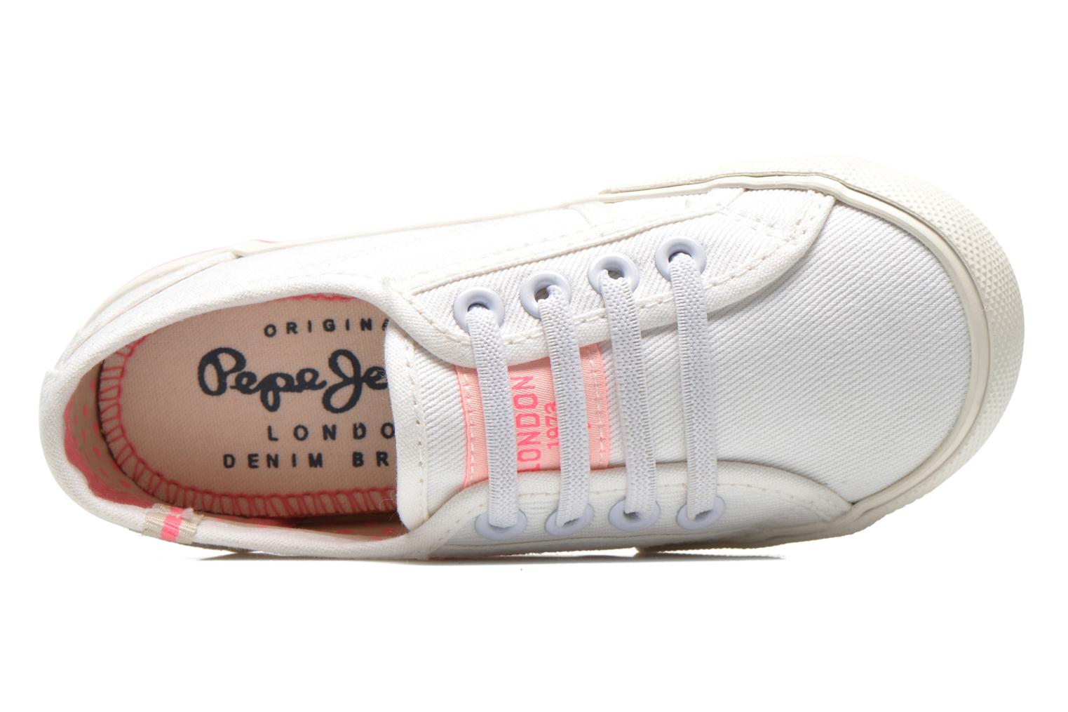 Trainers Pepe jeans Baker K White view from the left