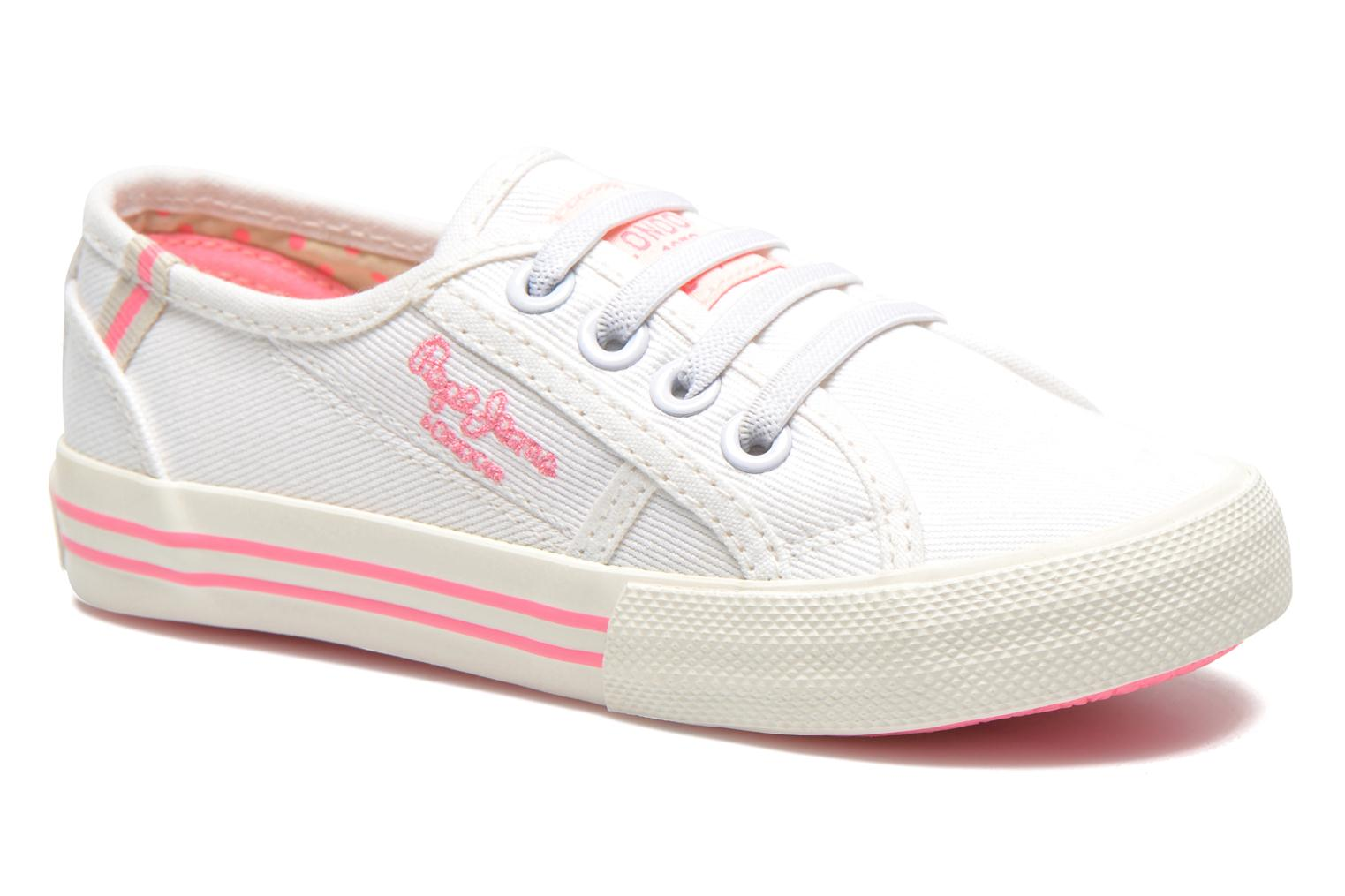 Trainers Pepe jeans Baker K White detailed view/ Pair view