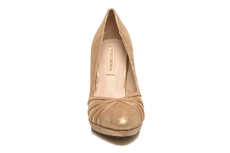 Zapatos de tacón Menbur Lisle Oro y bronce vista del modelo