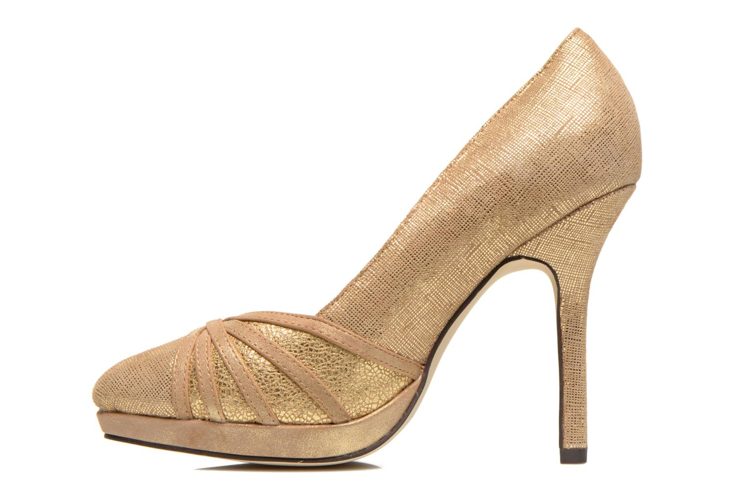 High heels Menbur Lisle Bronze and Gold front view