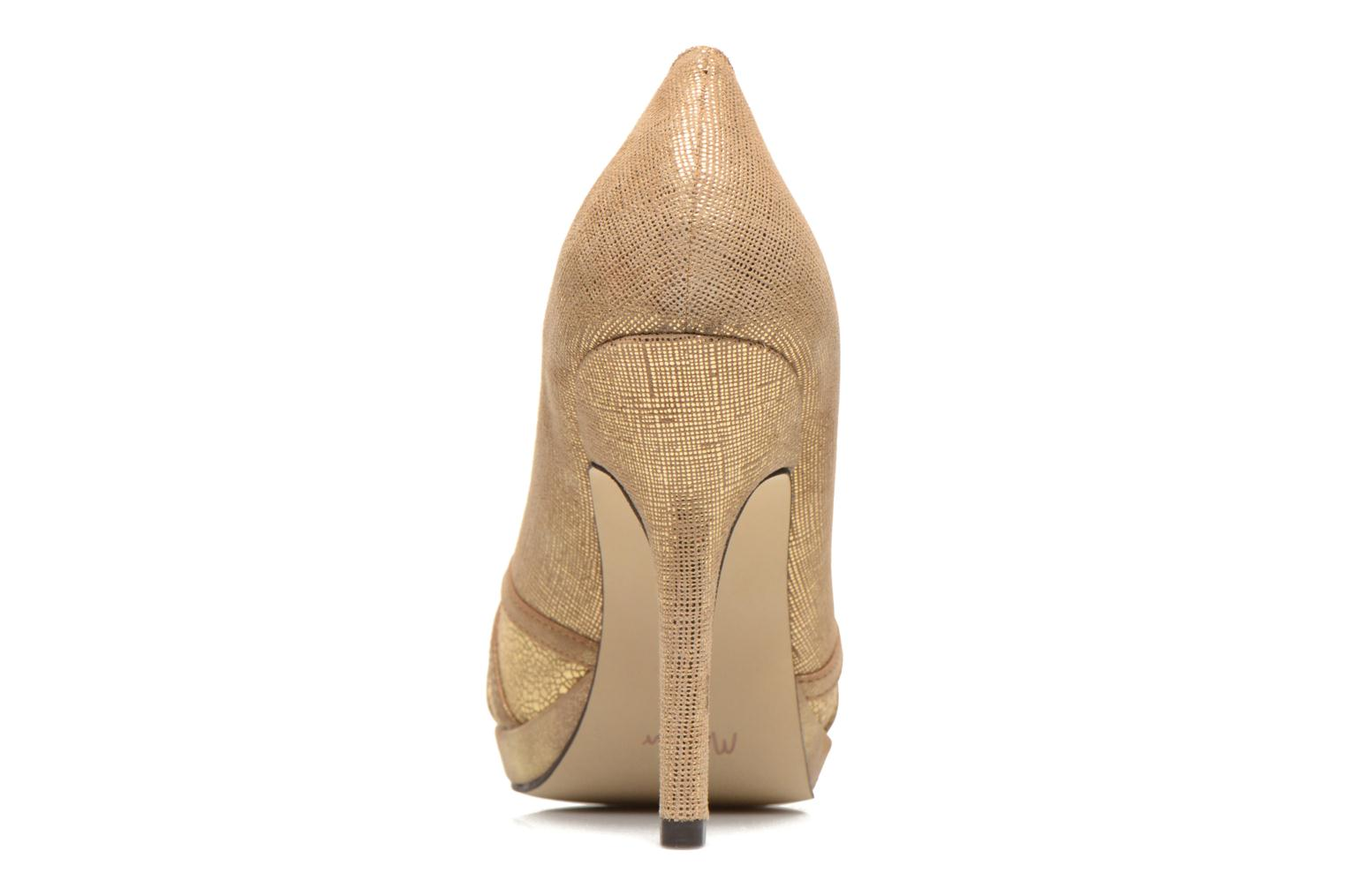 High heels Menbur Lisle Bronze and Gold view from the right