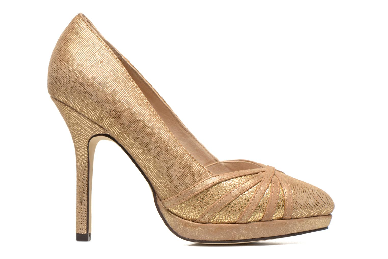 Høje hæle Menbur Lisle Guld og bronze se bagfra