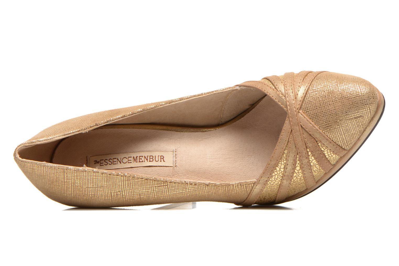 Zapatos de tacón Menbur Lisle Oro y bronce vista lateral izquierda