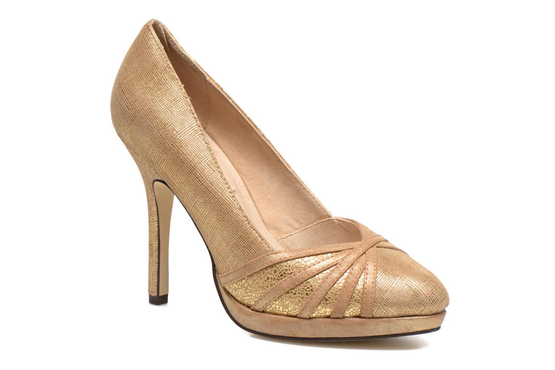 Høje hæle Menbur Lisle Guld og bronze detaljeret billede af skoene