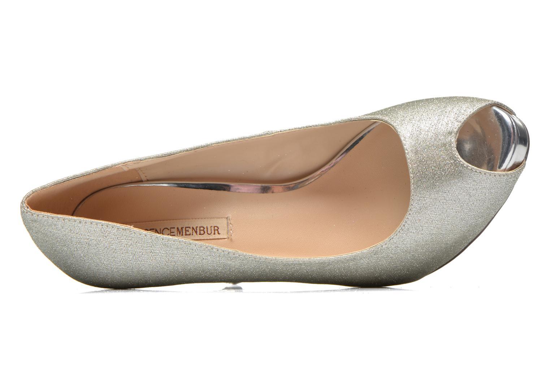 Zapatos de tacón Menbur Bailen Plateado vista lateral izquierda
