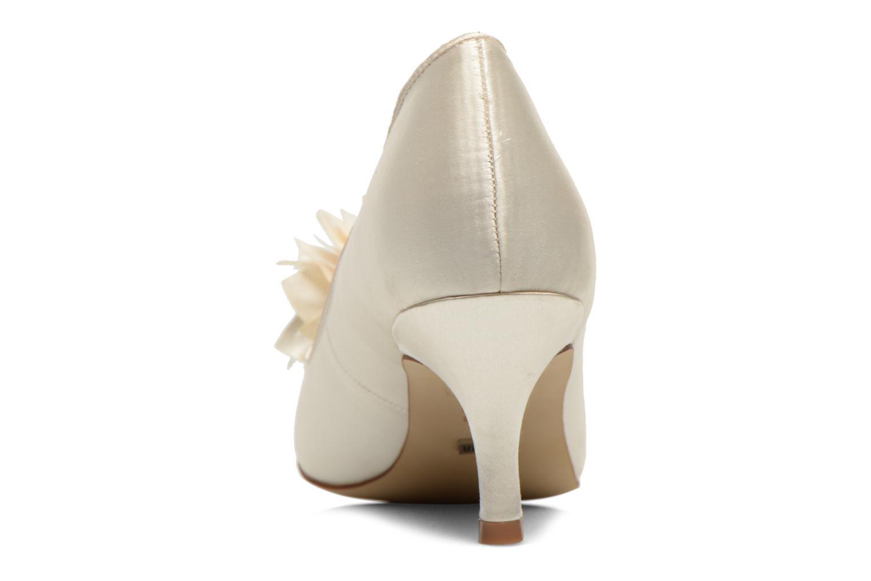 Zapatos de tacón Menbur Yves Blanco vista lateral derecha