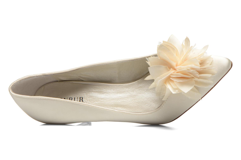Zapatos de tacón Menbur Yves Blanco vista lateral izquierda