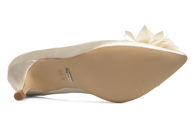 Zapatos de tacón Menbur Yves Blanco vista de arriba