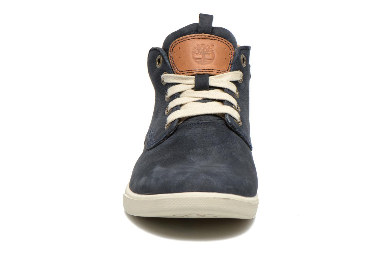 Sneaker Timberland Groveton Leather Chukka blau schuhe getragen