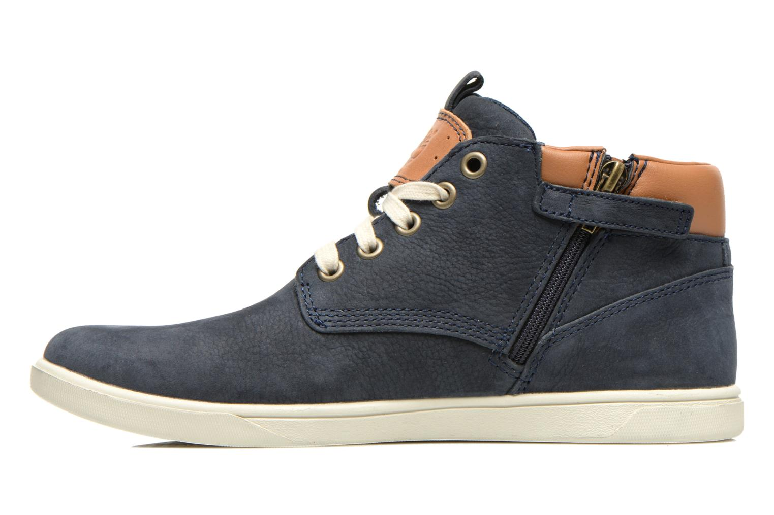 Sneakers Timberland Groveton Leather Chukka Azzurro immagine frontale