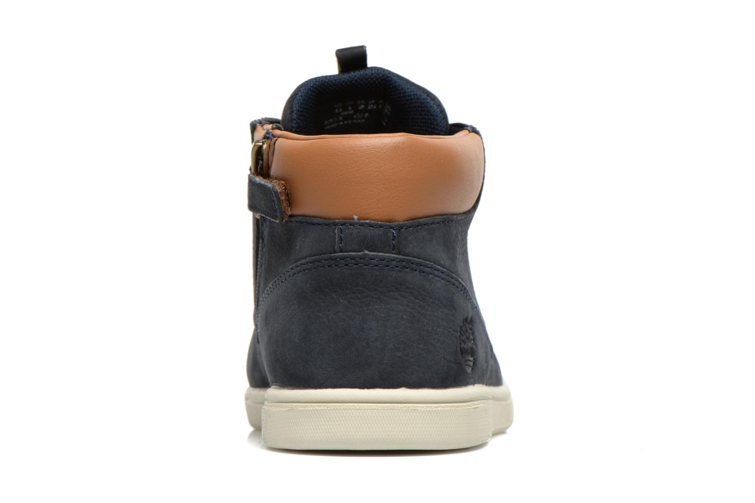 Baskets Timberland Groveton Leather Chukka Bleu vue droite