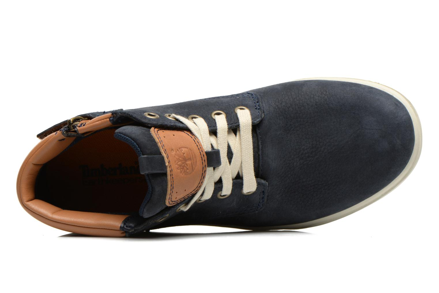 Baskets Timberland Groveton Leather Chukka Bleu vue gauche