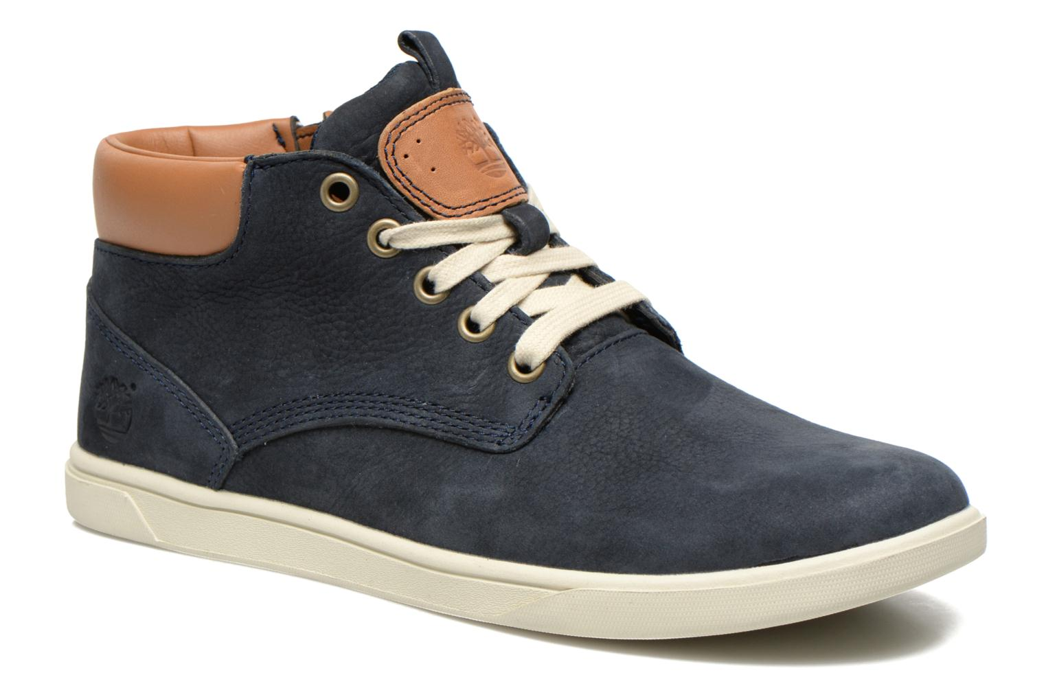 Baskets Timberland Groveton Leather Chukka Bleu vue détail/paire